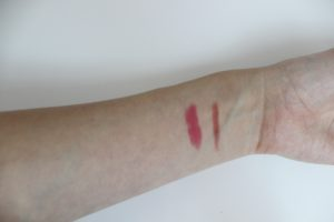 Left: Revlon ColorBurst Matte Balm / Right: Mac Lipliner in Dervish