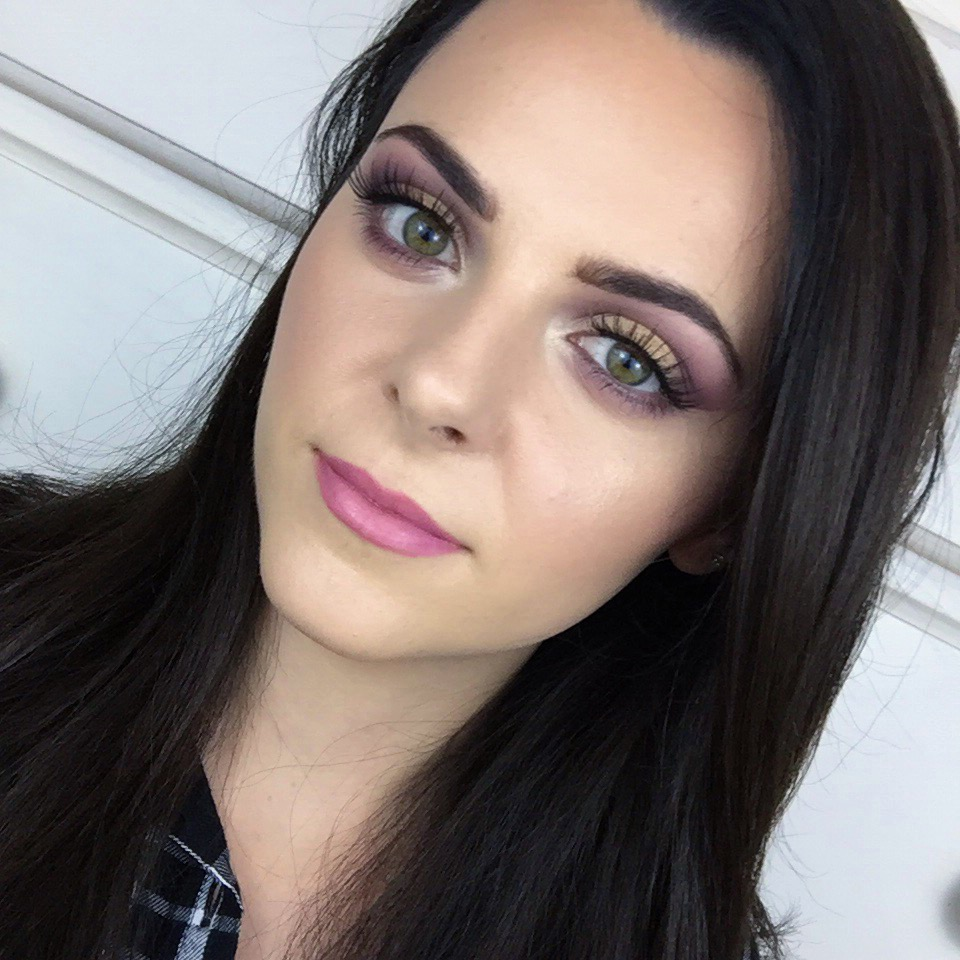 Purple and Gold Eyeshadow Look