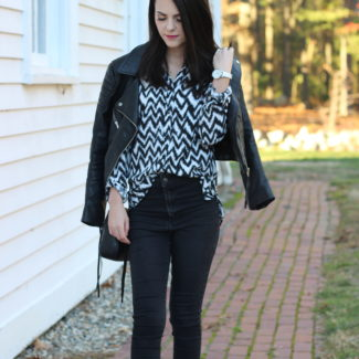 Edgy Fall Outfit Look with a Button Down : OOTD