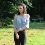 Grey Off The Shoulder Bodysuit : Out For Drinks Outfit