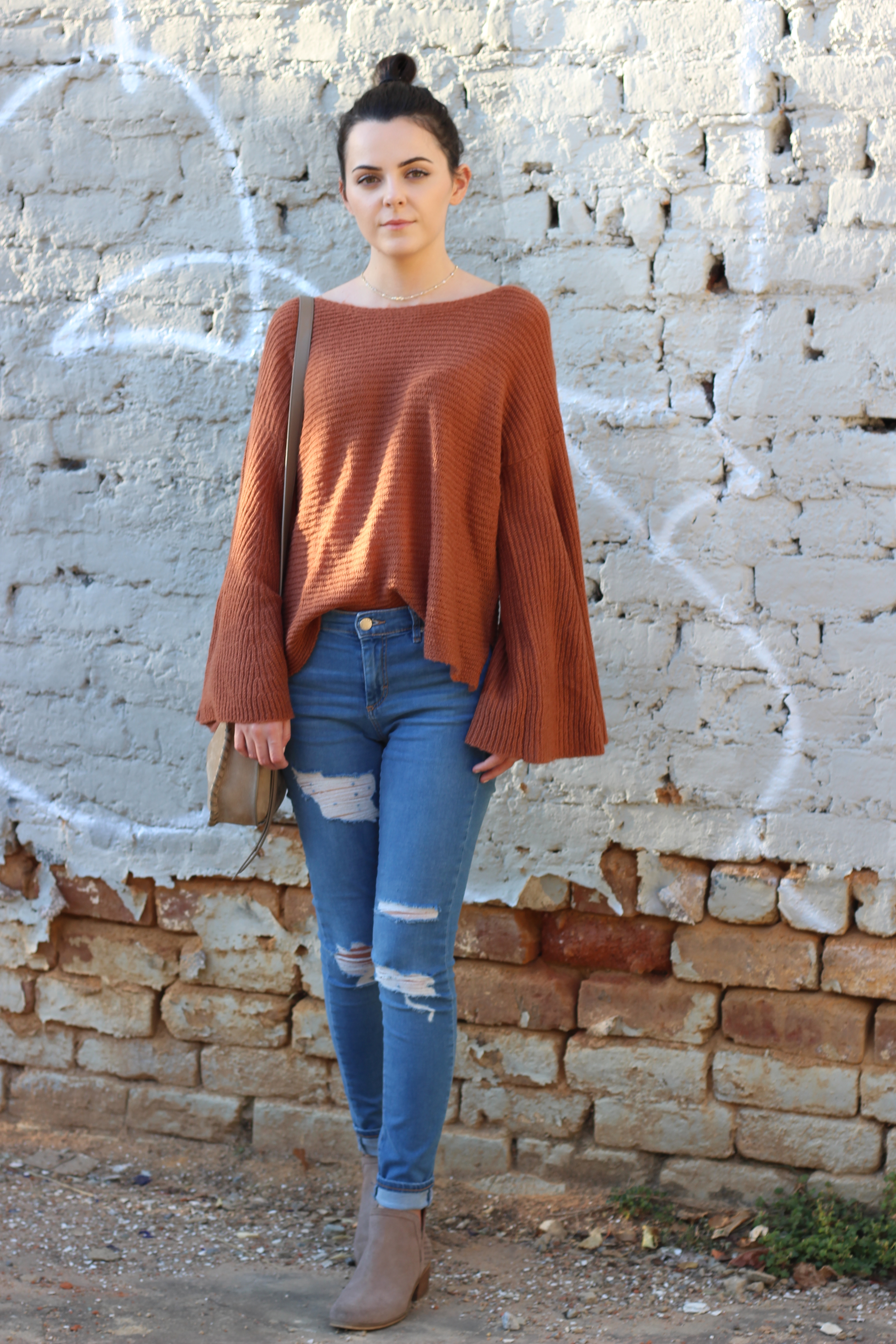 Bell Sleeves + Distressed Jeans : What I Wore In Asheville