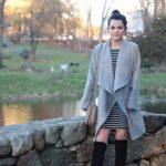 Striped Dress + Over The Knee Boots : OOTD