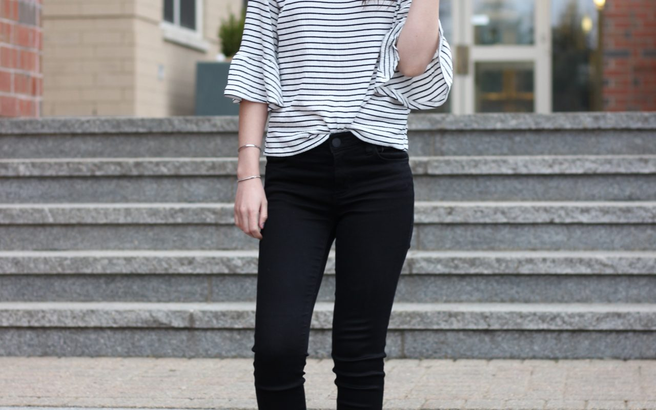 Affordable Bell Sleeve Top