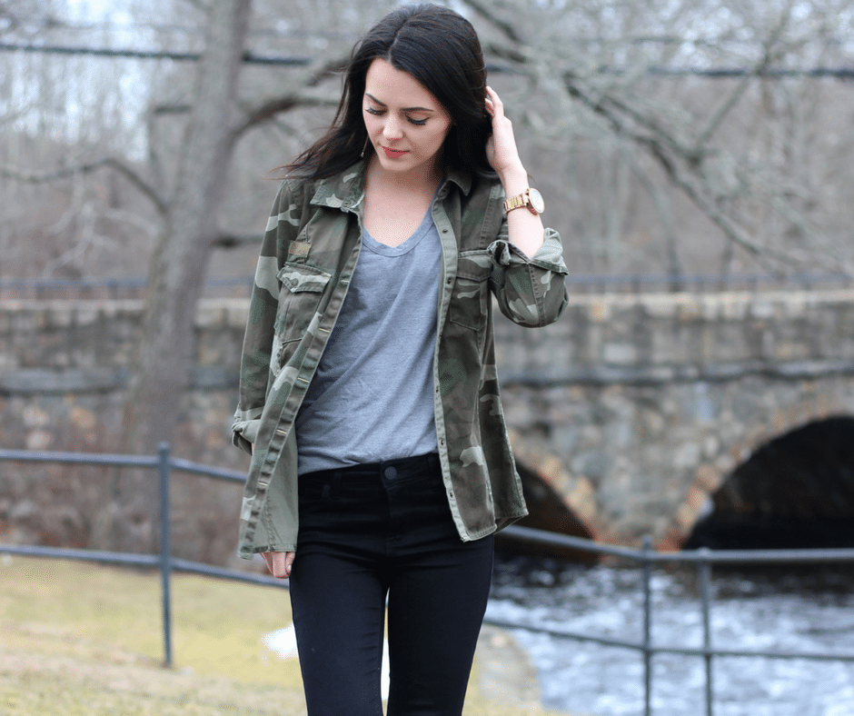 How to Style a Camo Jacket