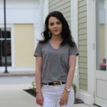 White Jeans + T-Shirt : Weekend Outfit