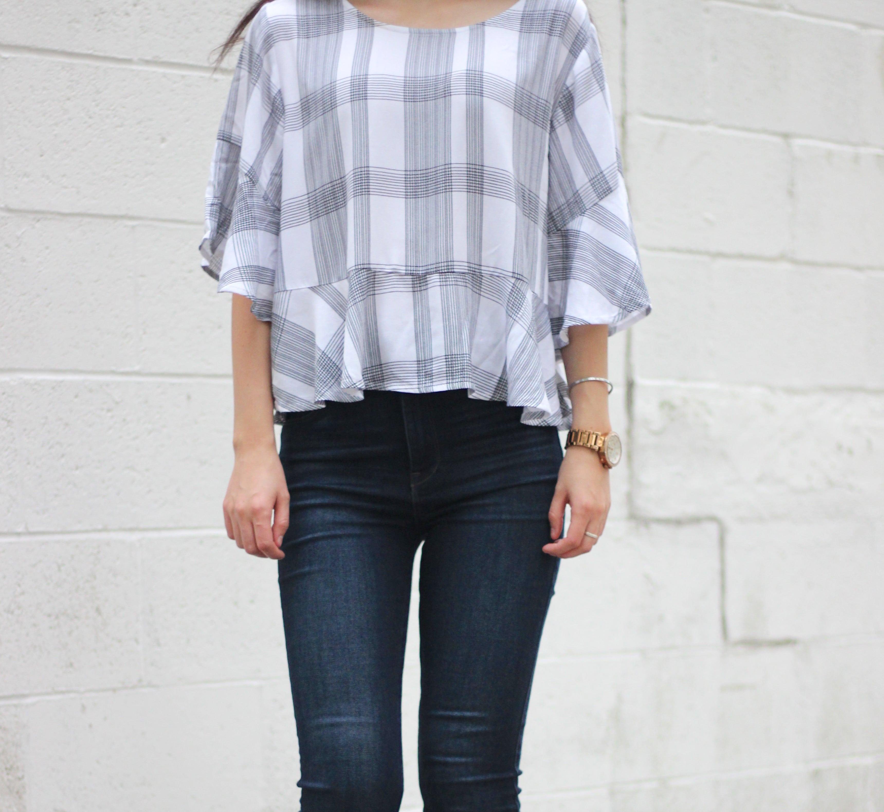Plaid Top + Jeans : OOTD