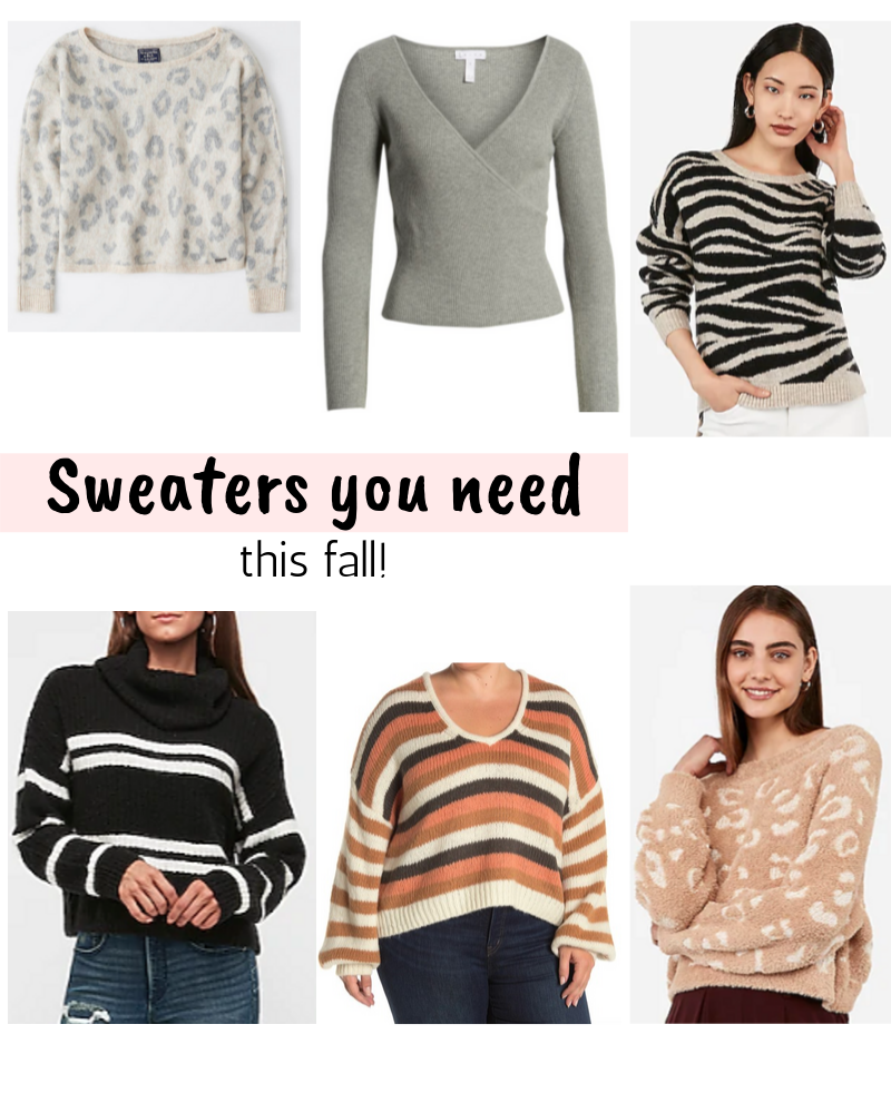6 Sweaters you need this Fall!