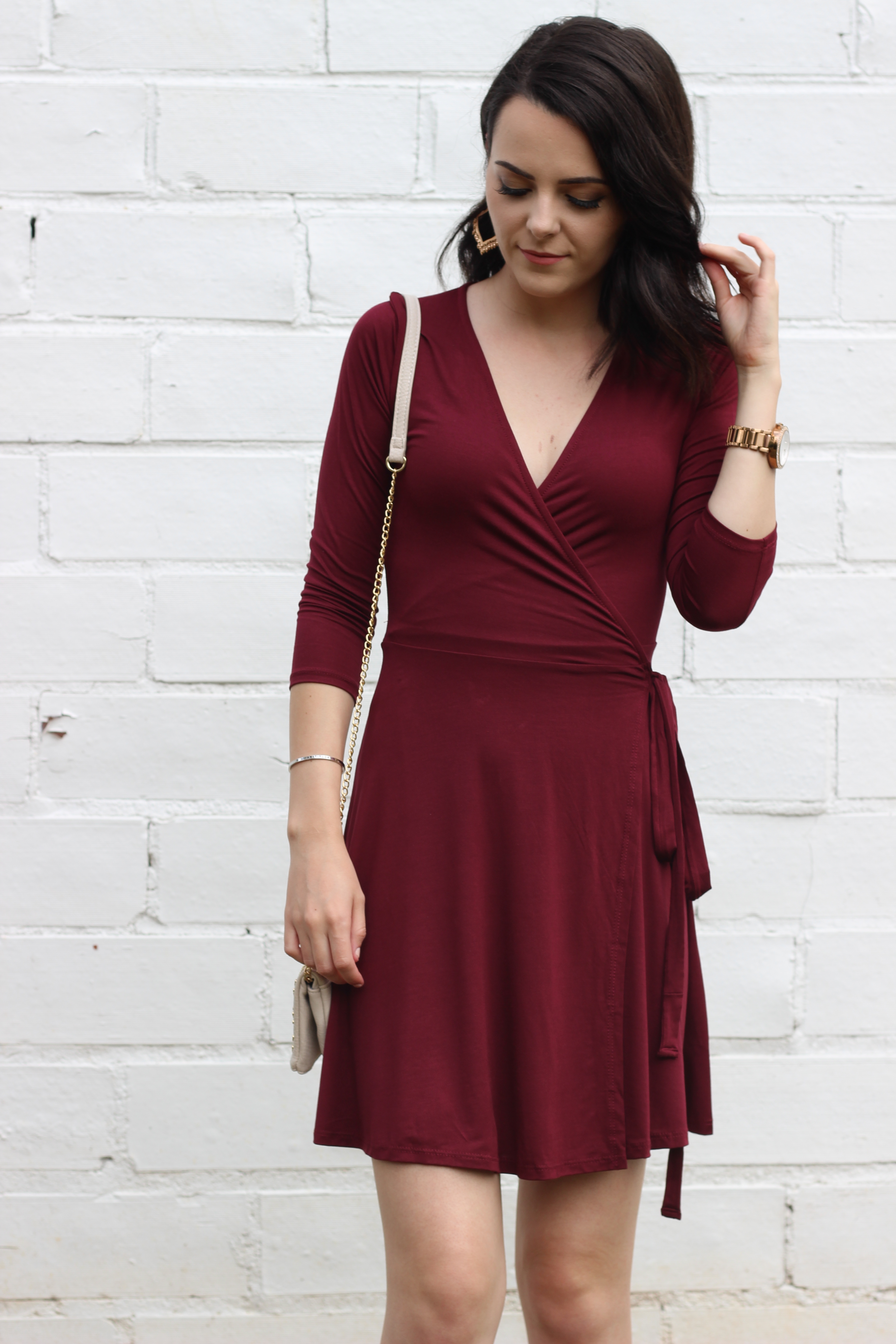 Wrap Dress Wedding Guest Outfit